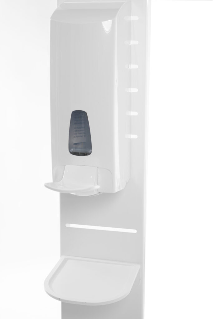 Mask-2-Go-Tower, Desinfektionsmittel-Dispenser